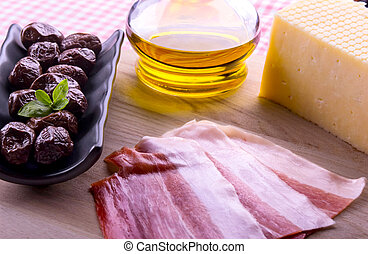 olives ham cheese
