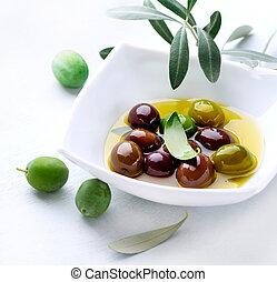 olives, huile d'olive