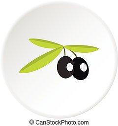 Olives icon circle