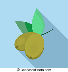 Olives icon, flat style