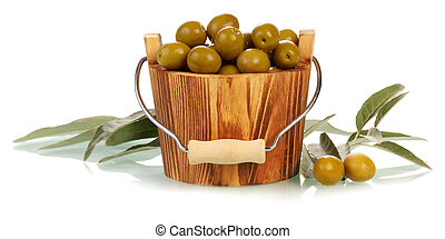 Olives in bucket