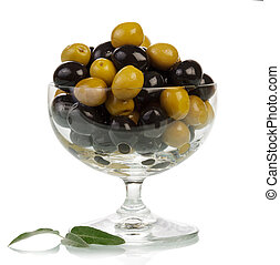 Olives in glass
