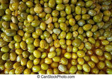 Olives in outdoor market pickles