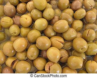 Olives marinated items - marinated olives background ready...