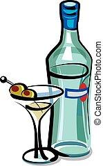 olives, martini, cocktail
