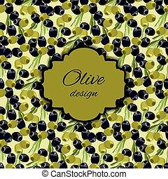 olives pattern background.