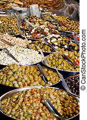 Olives - All kind off olives in big bowls