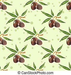 olives seamless background