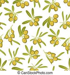 Olives seamless pattern background