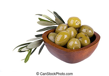 olives, vert