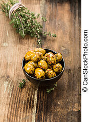 Olives with herbs