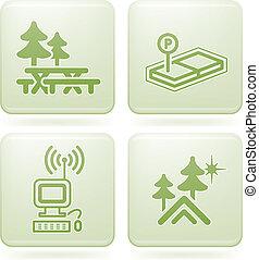 Olivine 2D Squared Set: Camping