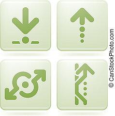 Olivine Square 2D Icons Set: Arrows
