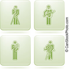 Olivine Square 2D Icons Set: Sport