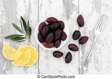 oliwki, owoc, cytryna