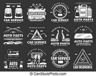 olja, ikonen, särar, bil, reservdel, detaljerna, motor, bil