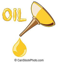 olja, lubricator, med, olja