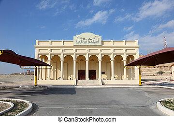 olja, museum, väl, mitt, bahrain., öster, första