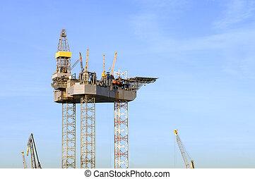 oljeborrplattform, konstruktion