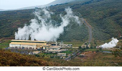 Olkaria II  geothermal power plant in Kenya