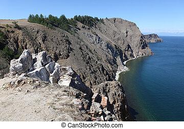 Olkhon Island desert region in Lake Baikal in Siberia.