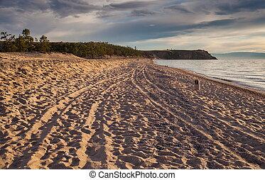 Olkhon Island, Lake Baikal - Olkhon Island desert region in...