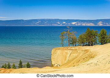 Olkhon island on Baikal Lake