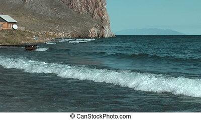 Olkhon island on Baikal lake. Uzuri village