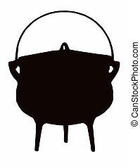 olla, cocina, africano