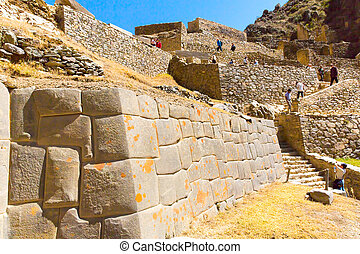 Ollantaytambo, Peru, Inca ruins and archaeological site in...