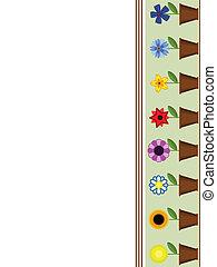 ollas, flores, frontera