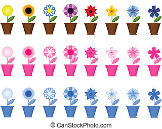 ollas, fronteras, flores