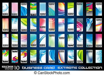 ollection, 在中, 社团的商业, 卡片, 背景
