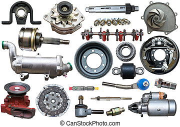 ?ollection of mechanical auto parts