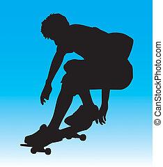 Ollie Air - Skater silhouette ollie\\\'ing with sick style....