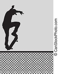 ollie, kerítés