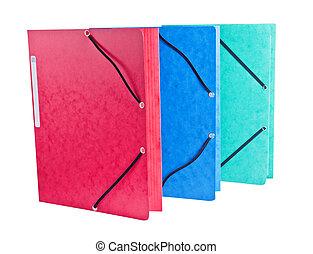 ?olor Folders on White Background