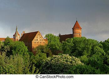 Olsztyn castle - castle in Olsztyn - town of Copernicus