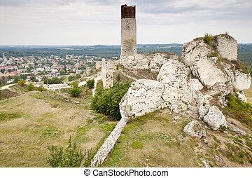 Olsztyn town and old castle - Poland.