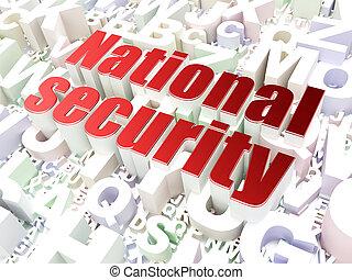 oltalom, concept:, nemzetbiztonság, képben látható, abc, háttér