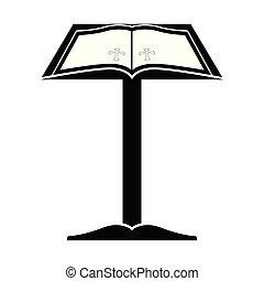 olvasópolc, biblia, nyílik