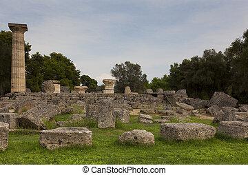 olympia, peloponnese, 台なし, ギリシャ