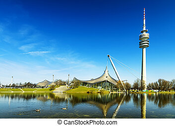 olympiapark, Munich Olympic Stadium and installation,...