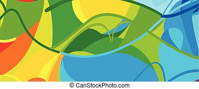Olympic Games Brazil Rio Summer abstract banner - Olympic...