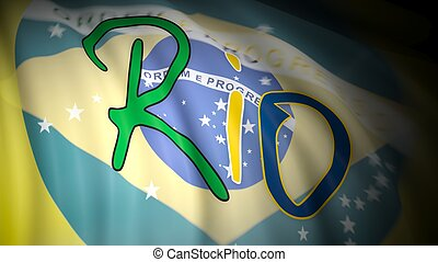 Olympic games in Rio,Brazil - 3D rendering of Rio written...