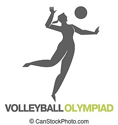 Olympic games. Volleyball - Olympiad volleyball player. The ...