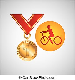 olympic gold medal cycling icon