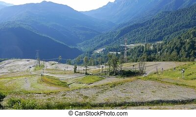 Olympic slopes at Rosa Khutor. Russia, Sochi. UltraHD (4K)