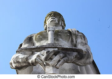 Olympic sport statue - fencing