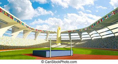 Olympic Stadium - High jump - Olympic Stadium with high...